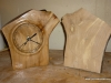 Arbutus clock with the other half of the log