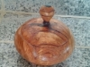Lidded maple bowl