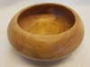 Maple wood bowl with closed form top view