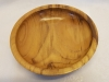 Black locust wood bowl top view