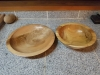Chestnut and black locust wood bowls