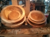 Roughed out maple wood bowls