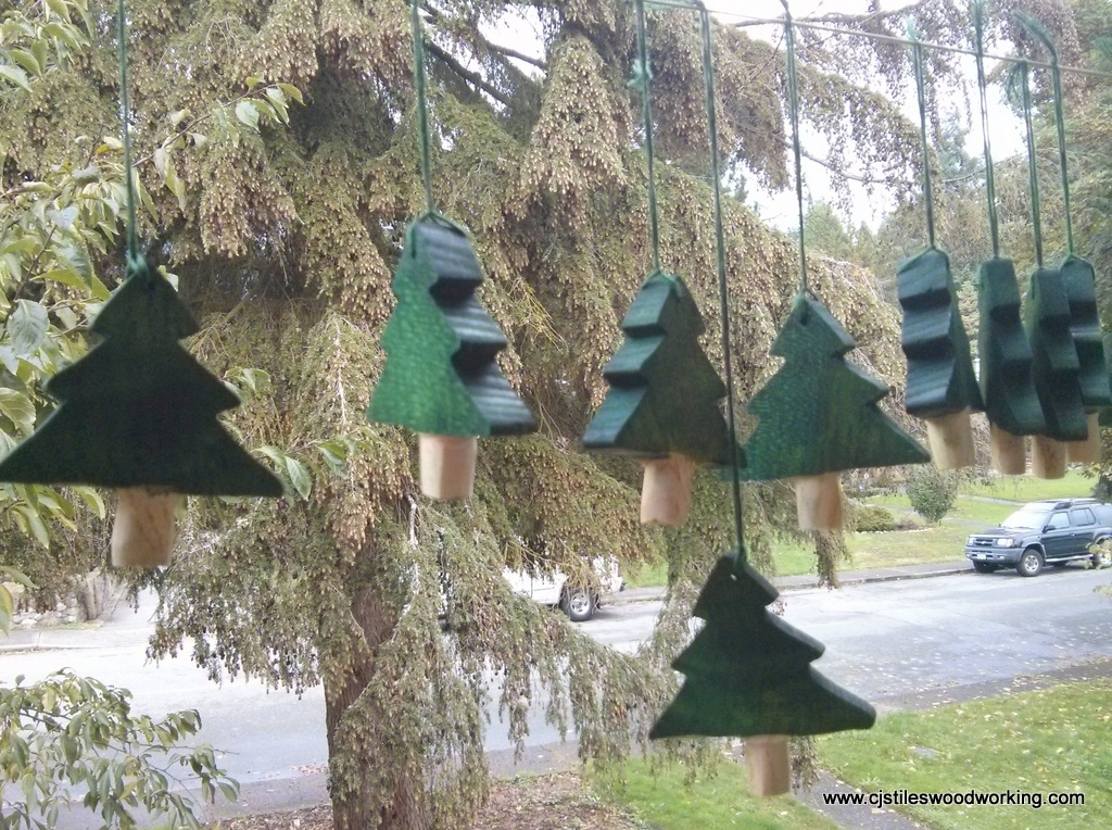 Hanging Christmas trees