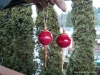 Red ball ornaments