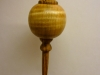 Christmas ball ornament made from maple and bocote