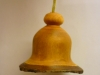 Christmas bell ornament made from cherry wood