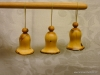 Plum wood Christmas bell ornaments