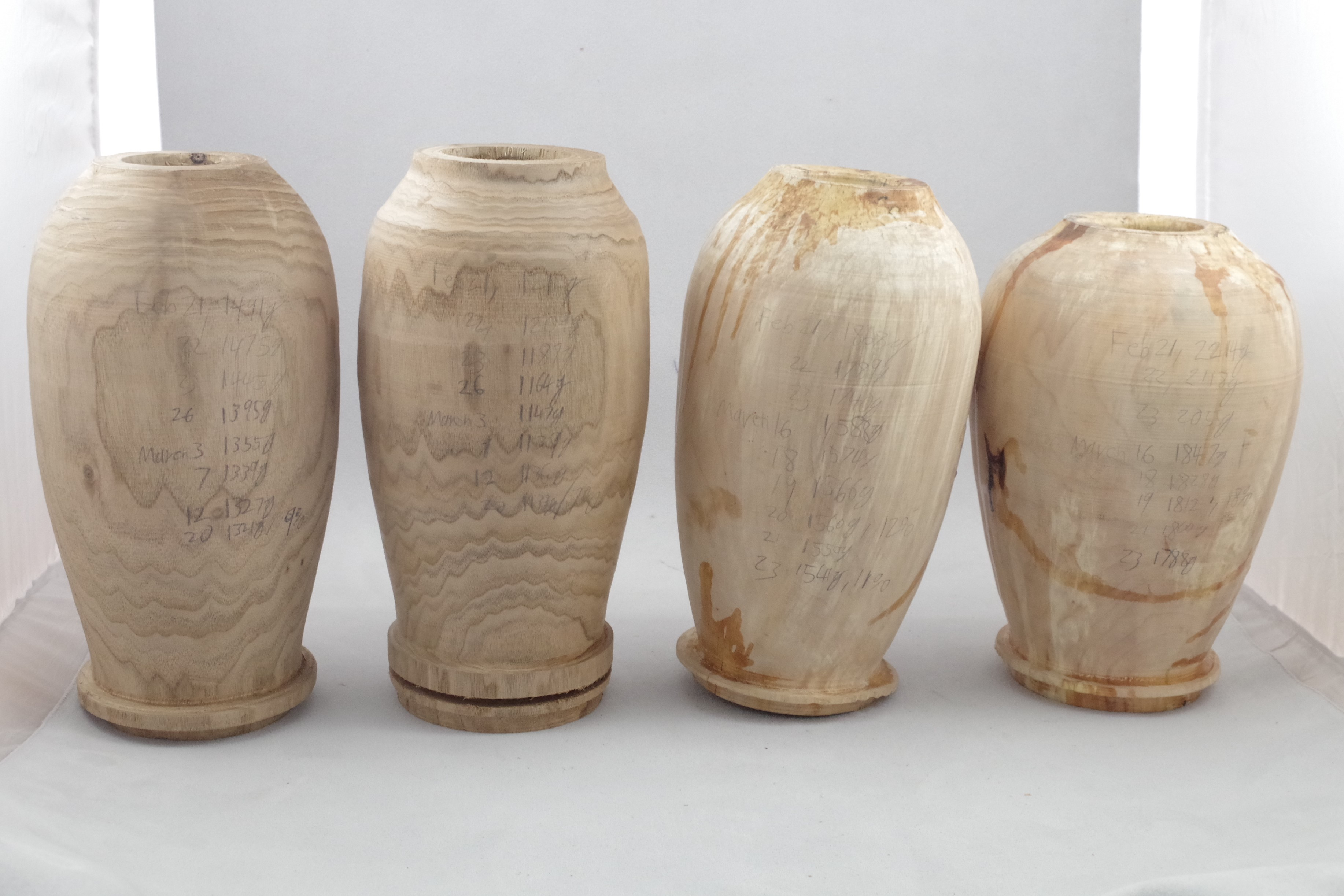 Roughed out urns