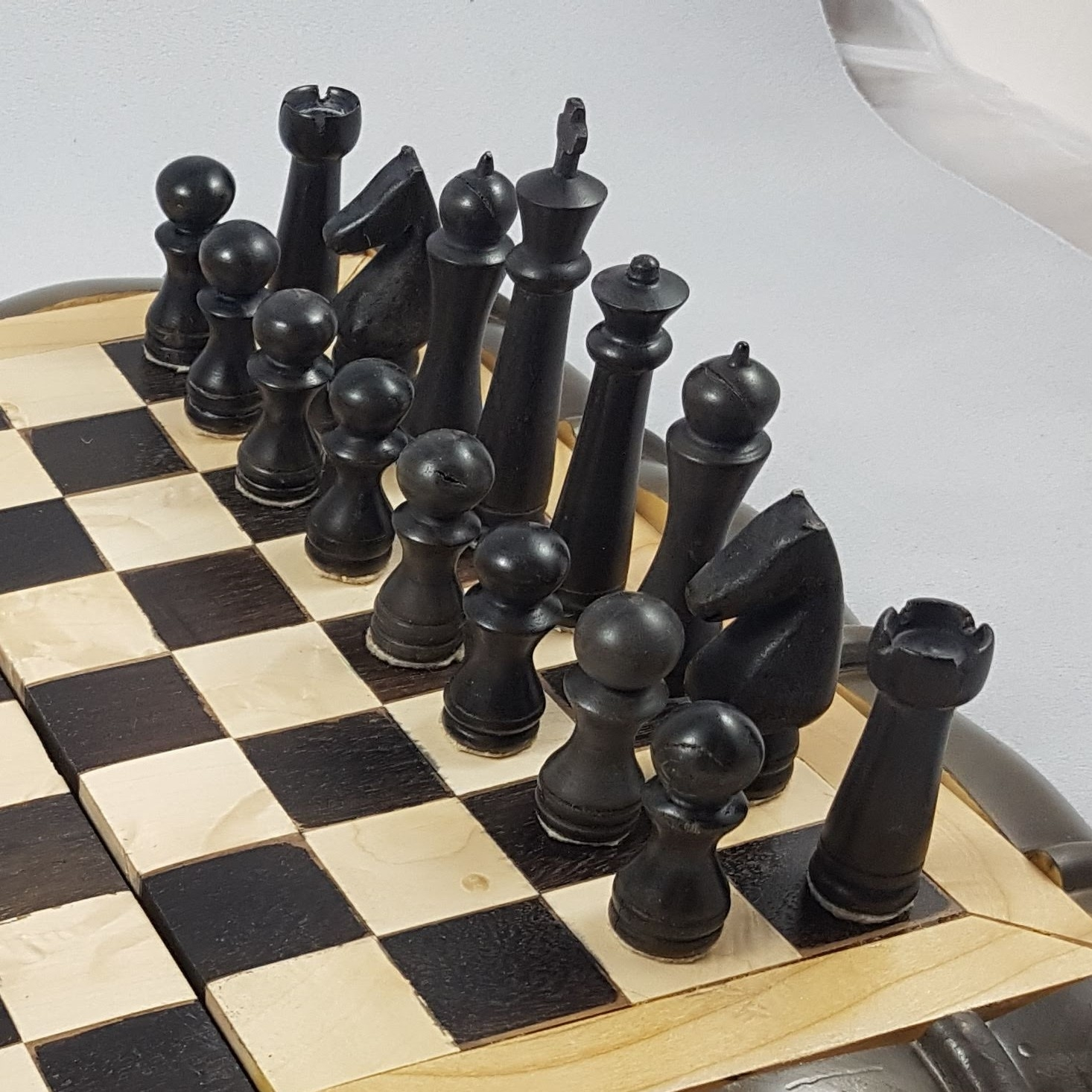 Dark chess pieces
