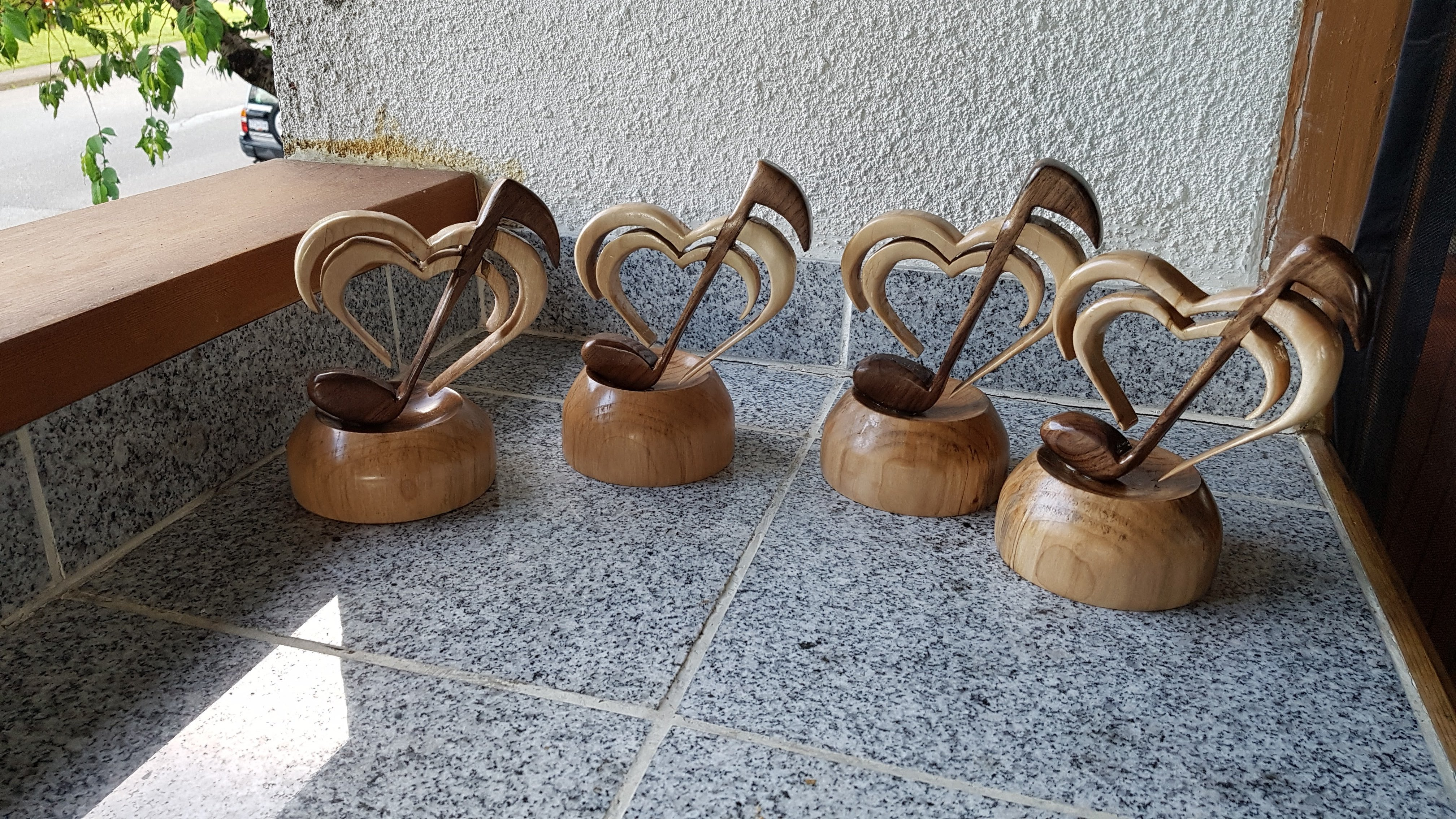 Completed music trophies