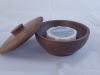 Walnut Wood Shaving bowl with soap