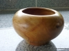 walnut wood bowl - closed form