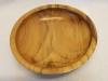Black locust wood bowl top view