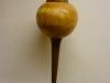 Maple & walnut Christmas ball ornament