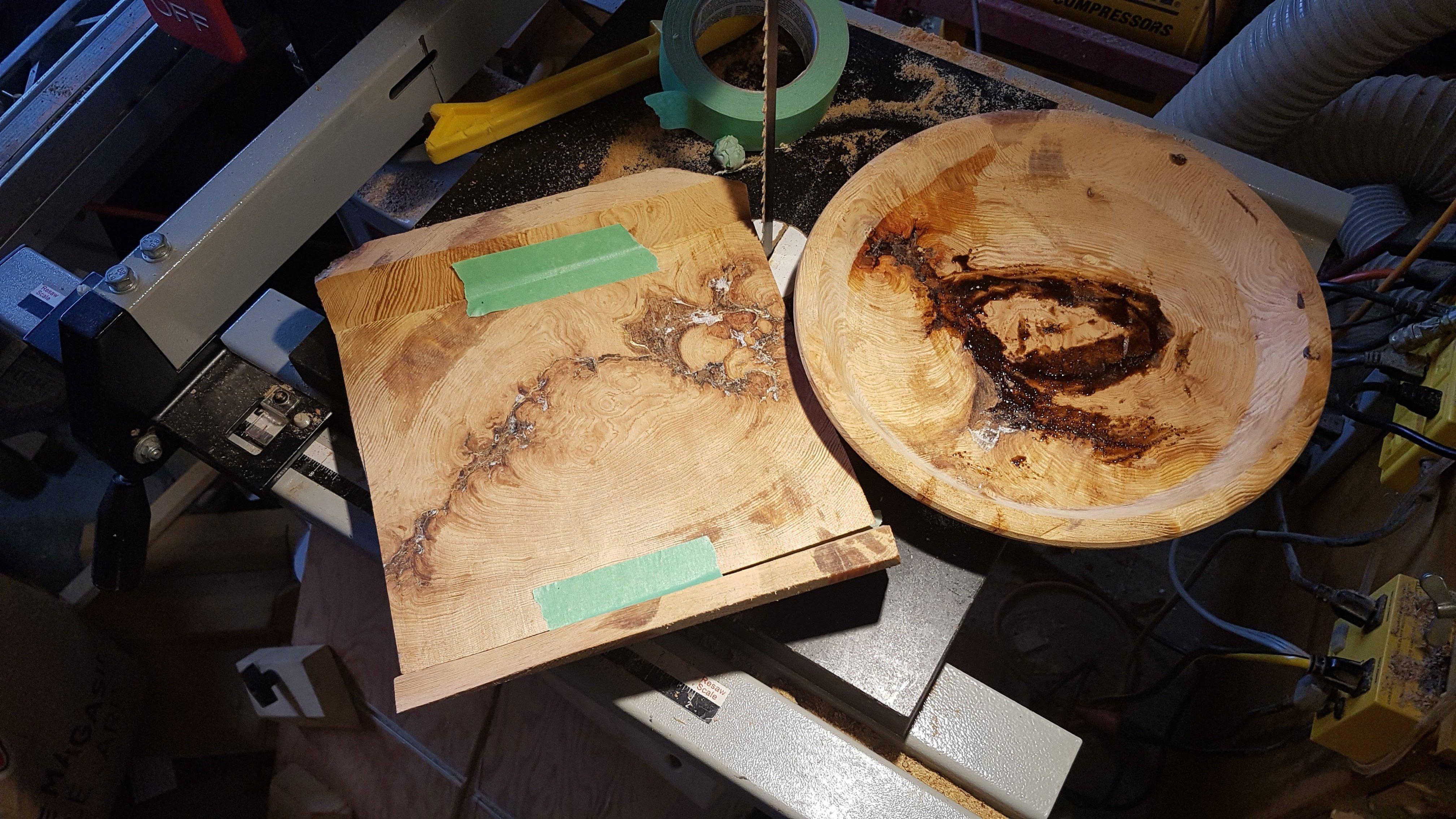 Oval tray in progress