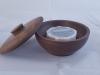 Walnut Wood Shaving bowl with soap